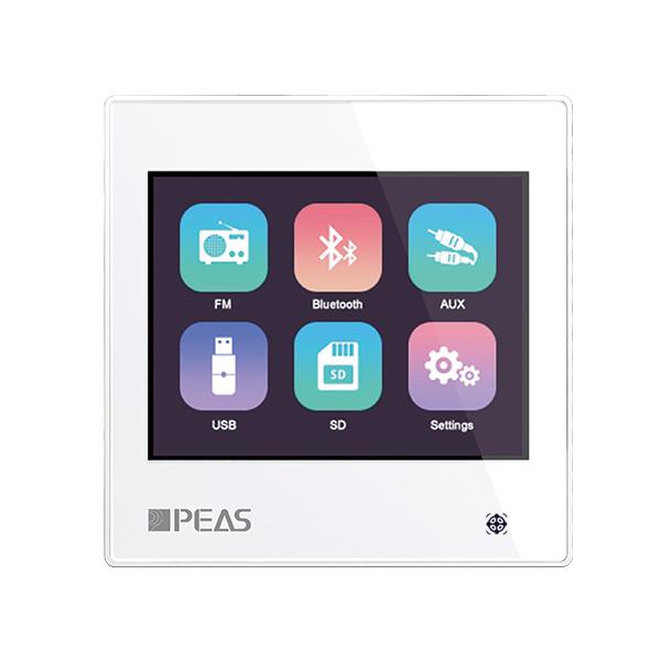 QS310 2x10W/ 2*10W/8Ω Touch Screen In-Wall Music Amplifier