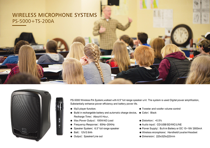 PS-5000 Series Portable Sound System